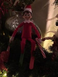 Elf on the Shelf Skiing